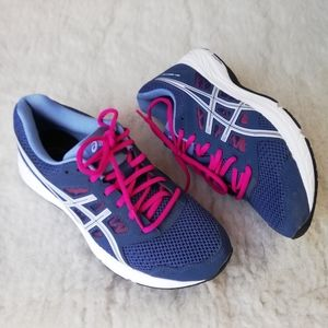ASICS running shoes in blue and pink Size 8.5